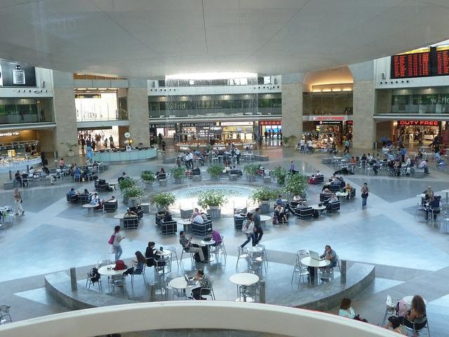 Tel Aviv, Ben Gurion Airport, Departure Hall - Free Wifi