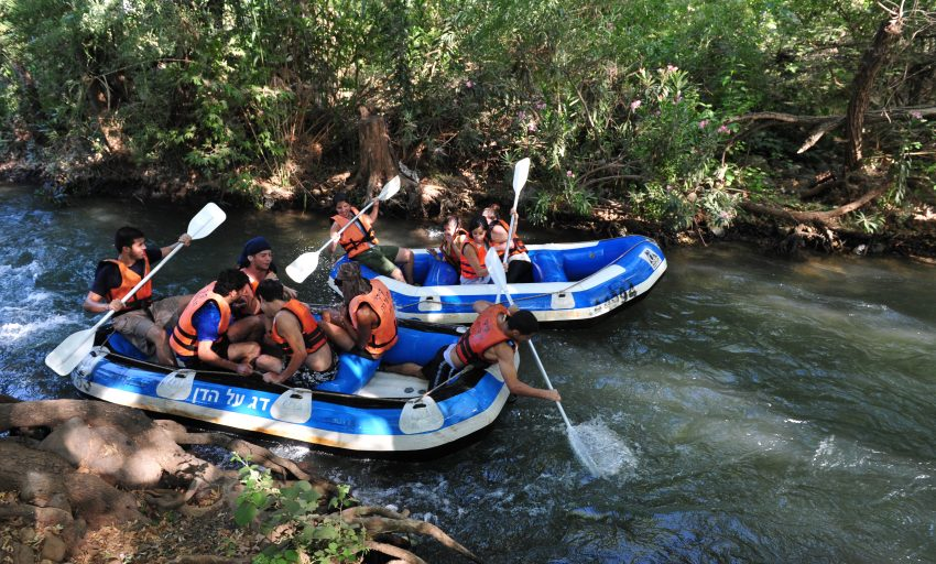 Birthright Israel River rafting on Dan River Israel - NES Mobile