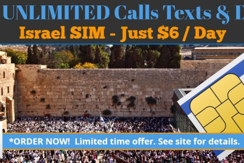 Israel SIM card with unlimited calls and unlimited data- nesmobile