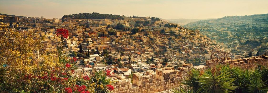 Israel travedl tips for 1st time visitors - Panoramic view of old city Jerusalem, Israel- NES Mobile