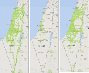 Cellular Network Coverage Throughout Israel G LTE Networks - 4g network map