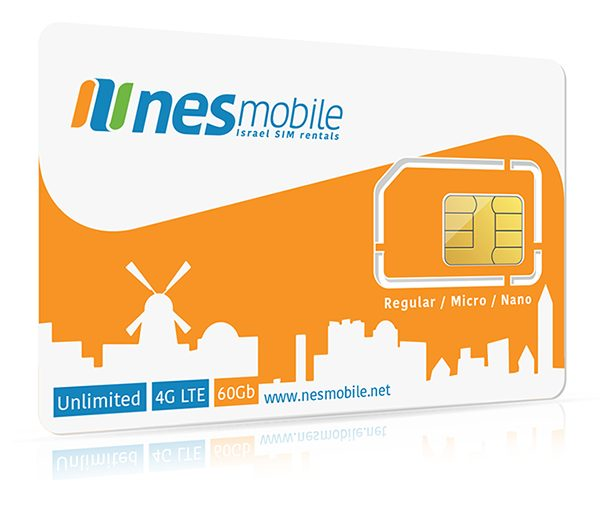 Israel Data SIM Card unlimited data in Israel - Nes Mobile