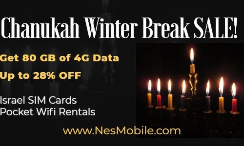 Chanukah Winter Break Sale 2020 NES Mobile Israel sim cards